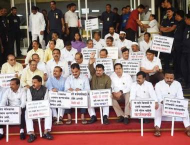 BJP MLAs side with Congress-NCP camp
