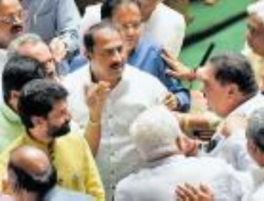 BJP members, Minister Rai nearly come to blows