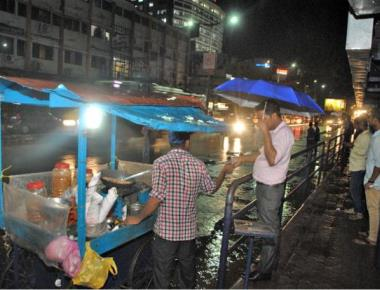 Relief as summer rain lashes city