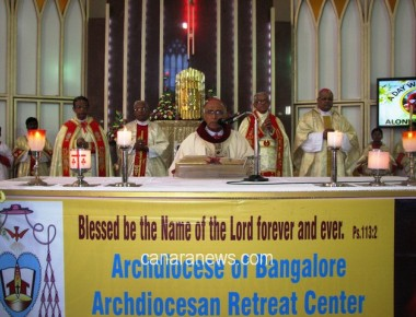 Archbishop Moras Lays Foundation Stone For Archdiocesan Retreat Centre