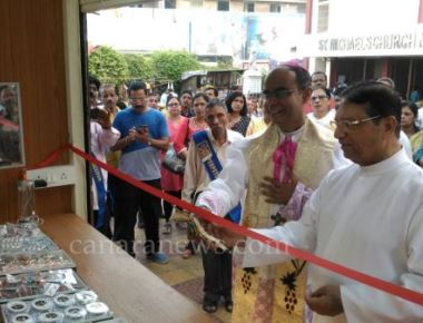 Opening of shrine office and shrine stall at St. Michael's church, Mahim