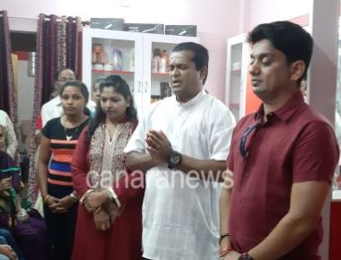 Gulf Standard NRI Roshni's Beauty Parlour Opened in Moodbidri
