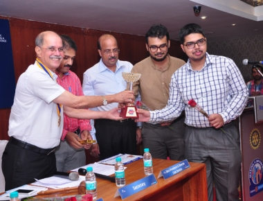 Rotary Club felicitates team KMC - finalists in RC competition