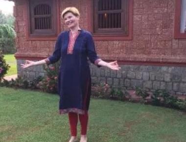 Russian actress Anna Ardova visits Udupi for ayurvedic treatment