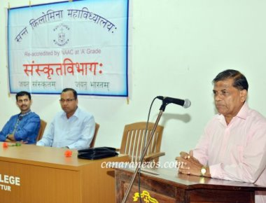 Guest Lecture on 'Significance of Sanskrit Language' held at St Philomena College Puttur