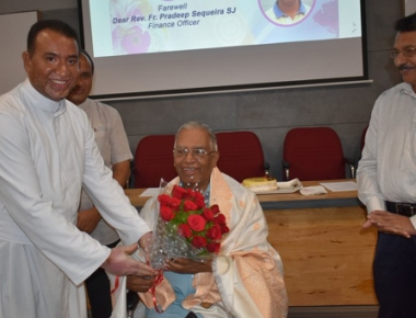 SAC bids farewell to outgoing Finance Officer Fr Pradeep Sequeira SJ