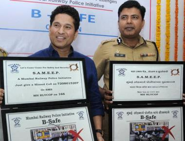 Sachin opens railway police safety drive