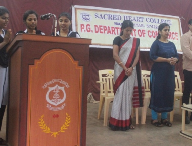 Orientation and soft skills development programme held at Scared Heart College Madanthyar