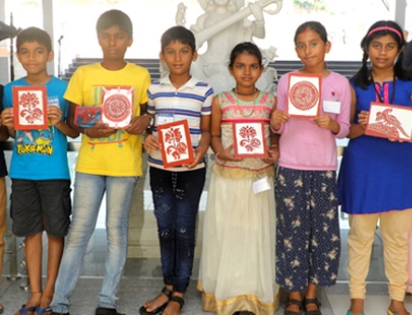 Safron art training held at Shakthi Residential School and PU College