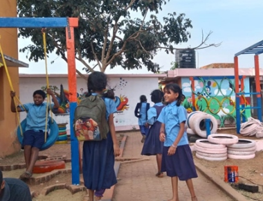 Sahyadri Civil Engineering students, Trigon undertake CSR project at Government High School