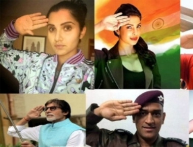 For I-Day, celebs salute soldiers with 'Saluteselfie'