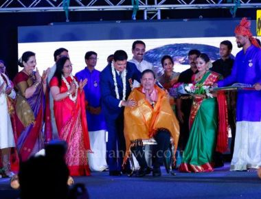 Scintillating Colourful 43rd UAE  Bunts Anniversary in Dubai -  ' Bunta Vibhooshana' Bestowed on Justice Santosh Hegde