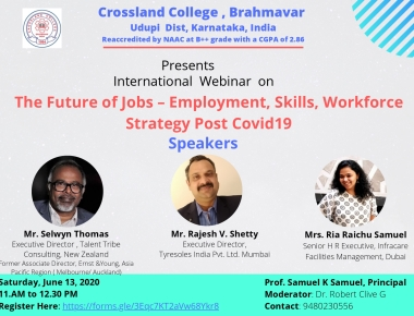 Crossland College to organize an International webinar