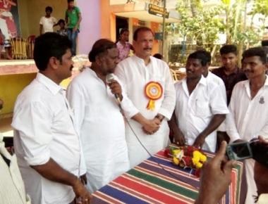Anjaneya lays foundation for Samudaya Bhavan