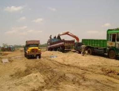 3600 tonnes of illegally stored sand seized