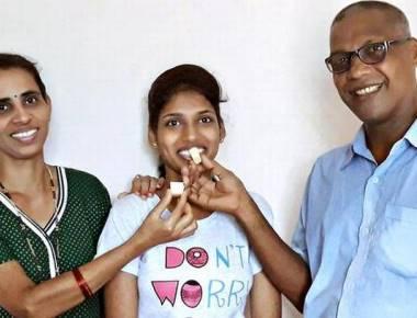 Daughter of school van driver tops in Udupi