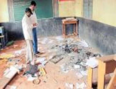 Classrooms of school next to police station vandalised in Belagavi