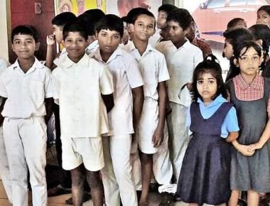 50 students from govt. schools among the first to watch movie on schools