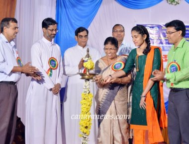 District Level Science Fair held at St Philomena College Puttur