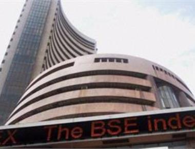 Sensex trims initial losses, still down 313 pts