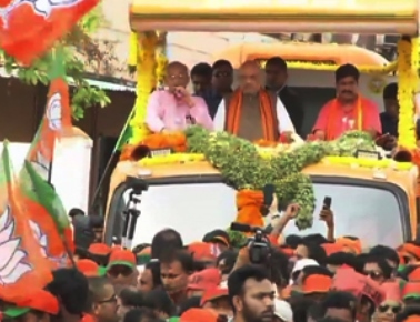 BJP President Amit Shah campaigns for BJP candidates in Mangaluru
