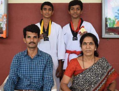 Sharada Vidyanikethana's Yashas R secures gold in state-level Taekwondo