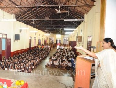 Sanitary napkins to adolescent students in rural areas