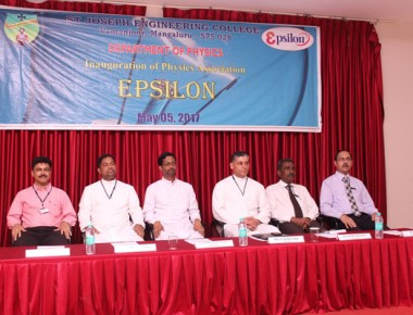 Physics association 'Epsilon' inaugurated at SJEC