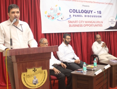 Panel Discussion on 'Smart City Mangaluru and Business Opportunities' held at SJEC