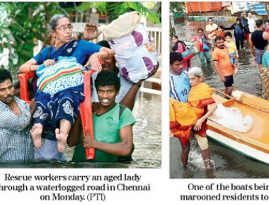 Chennai turns into city of boats and snakes