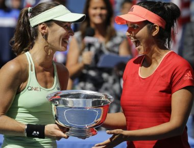 Sania Mirza-Martina Hingis pair wins US Open women's doubles crown, 2nd successive Grand Slam title