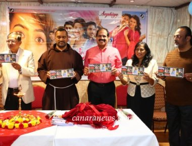 'Sophiya' Konkani Movie's 'Ticket Released' in Dubai by Rev. Fr. Robert Lasrado