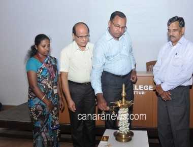 'Hindi Day' celebrated at St Philomena College Puttur