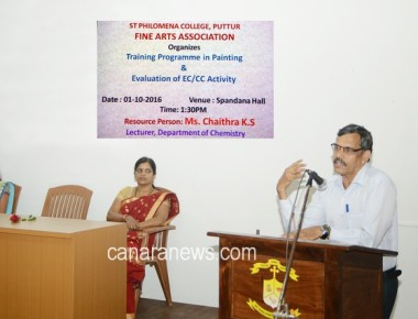 Training Programme in Painting held at St Philomena College Puttur