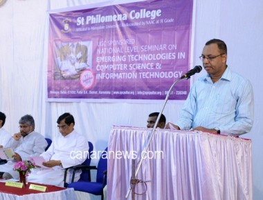 National Seminar on 'Emerging Technologies in Computer Science and Information Technology' at SPC Puttur