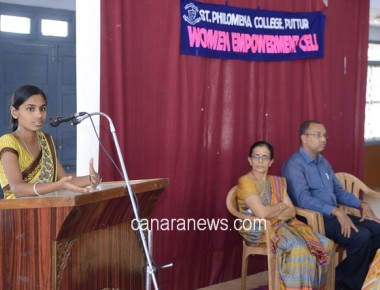 A Guest Talk on 'Self Esteem' held at St Philomena College Puttur