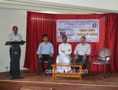 Free Computer Training Camp concluded at St Philomena College Puttur