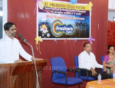 Fresher's Day celebrated by PG Department of Commerce at St Philomena College Puttur