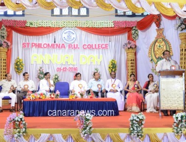 St Philomena P U College Puttur celebrated Annual Day