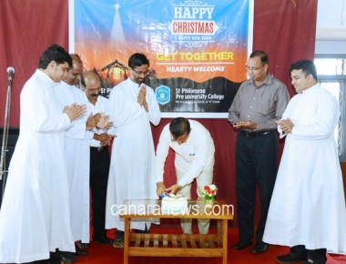 Christmas get together at St Philomena College Puttur
