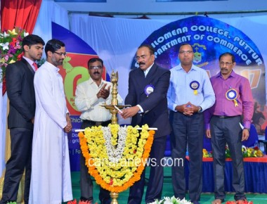 Commerce Fest 'AMBIORA 2017' held at St Philomena College Puttur