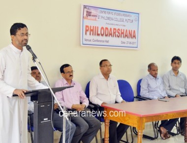 """Philodarshana 2017"" held at PG Centre of St Philomena College Puttur"
