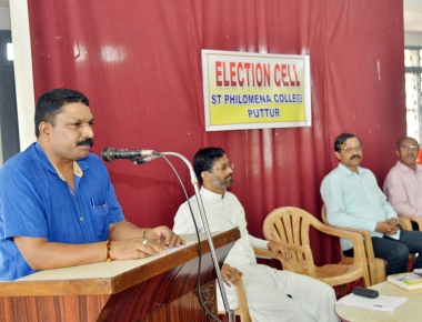 Awarenees Programme on Enrollment of names in Voter List at St Philomena College Puttur