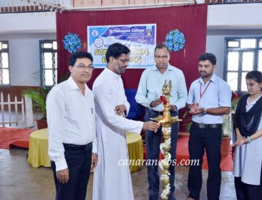Science Model Exhibition held at St Philomena College Puttur