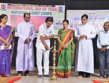 International Yoga Day celebrated at SPC Puttur