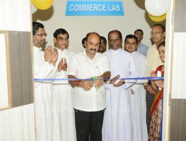 Inauguration of Commerce Laboratory at St Philomena College Puttur