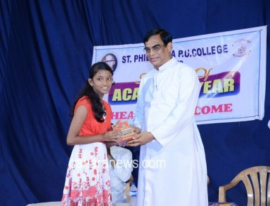 Welcome Ceremony at St Philomena Pre-University College Puttur