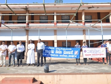 Swachhta Abhiyan held at St Philomena College Puttur