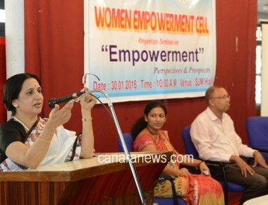 Seminar on 'Empowerment'- Perspectives & Prospects held at St Philomena College Puttur