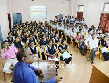 Guest Lecture on 'Bridging the Industry-Academia Gap' held at St Philomena College Puttur